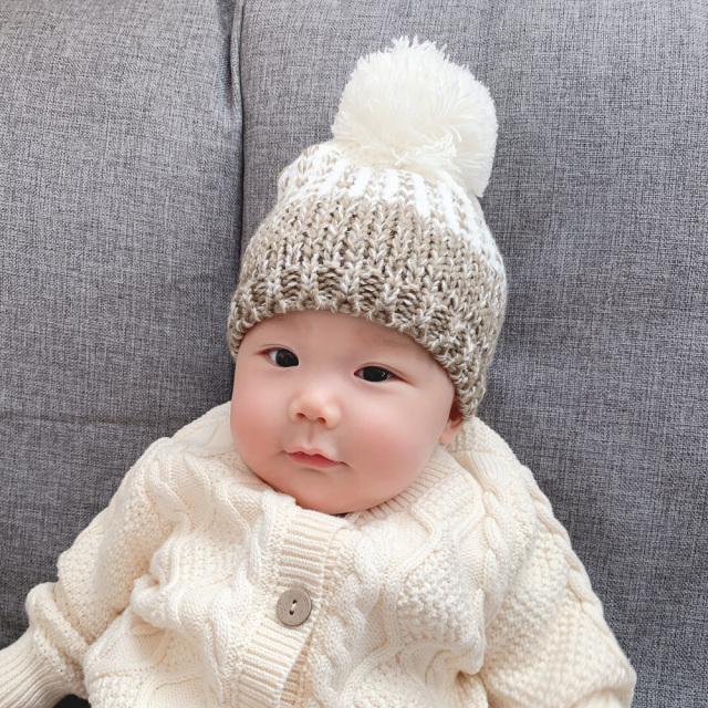 Pearls パールズ 親子ペア ニットキャップ 7点セット ニット帽 ベビー ママ 帽子 お揃い 冬 親子リンクコーデ