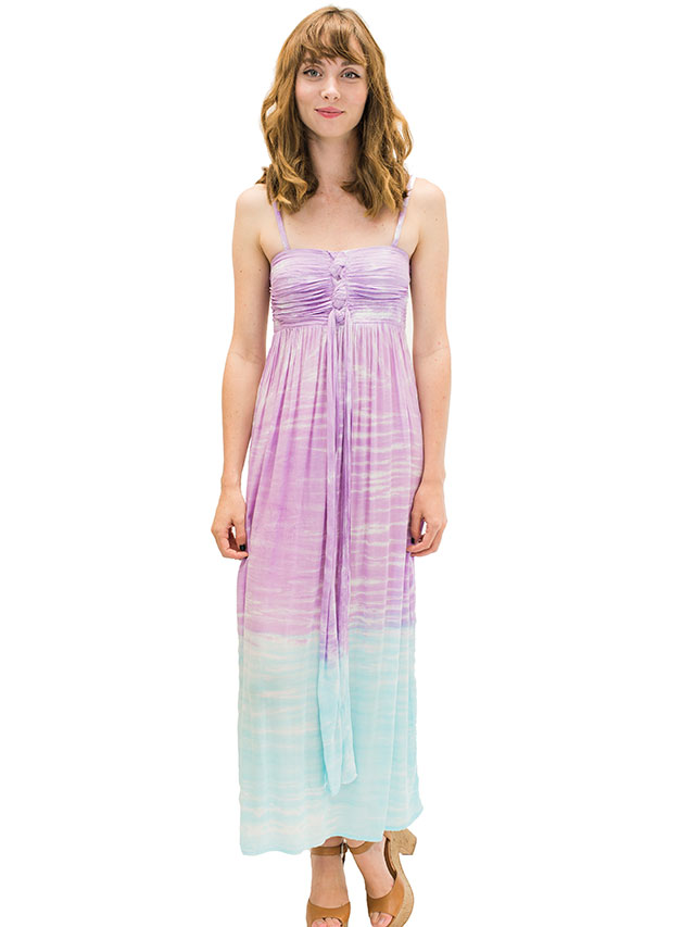【ハワイ直輸入】エンジェルズ・バイ・ザ・シー・ハワイ ロングドレス アクア(Lani Long Dress in Cloud)