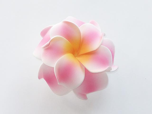 髪飾り ダブルプルメリア(ピンク×ホワイト)