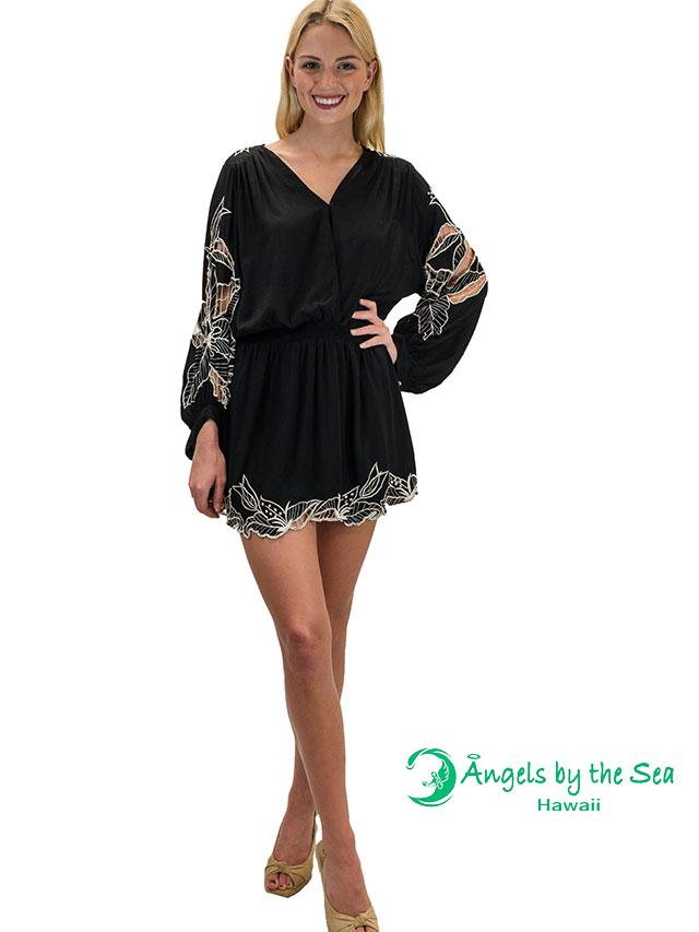 【ハワイ直輸入】エンジェルズ・バイ・ザ・シー・ハワイ ショートドレス ブラック(Kilia Short Dress)