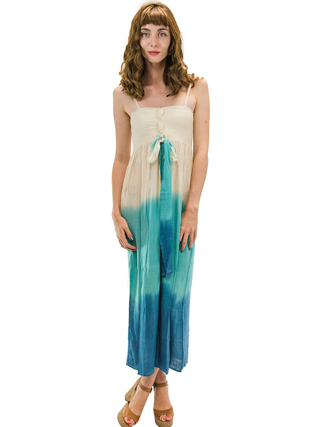 【ハワイ直輸入】エンジェルズ・バイ・ザ・シー・ハワイ ロングドレス ティール(Lani Long Dress in Ombre)