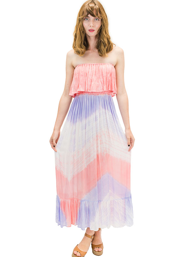 【ハワイ直輸入】エンジェルズ・バイ・ザ・シー・ハワイ ロングドレス パープル(Moana Long Dress in Wave)