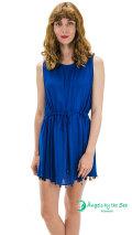 【ハワイ直輸入】エンジェルズ・バイ・ザ・シー・ハワイ ノースリーブショートドレス ネイビー(Abalone Fringe Short Dress)