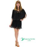 【ハワイ直輸入】エンジェルズ・バイ・ザ・シー・ハワイ ショートドレス ブラック(Mano Dress)