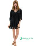 【ハワイ直輸入】エンジェルズ・バイ・ザ・シー・ハワイ ショートドレス ブラック(Poliahu Short Dress)