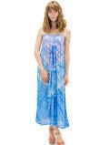 【ハワイ直輸入】エンジェルズ・バイ・ザ・シー・ハワイ ロングドレス パープル(Lani Long Dress in Abstract)