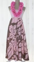 切替ドレス(ピンク×ブラウン)