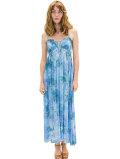 【ハワイ直輸入】エンジェルズ・バイ・ザ・シー・ハワイ ロングドレス ブルー(Kula Long Dress in Smoke)
