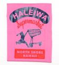 ハレイワスーパーマーケット オリジナルTシャツ(ローズピンク)