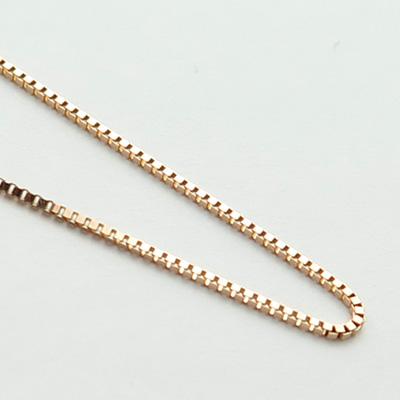 ピンクゴールドベネチアン40cm0.6mmアップ
