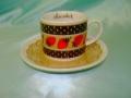 イチゴのカップとソーサー(チョコレート)