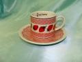 イチゴのカップとソーサー(ピンク)