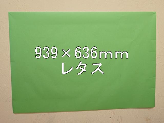 【1120-4】【特大Aサイズ】ローズウィンドウペーパー/単色5枚入/939×636mm/レタス