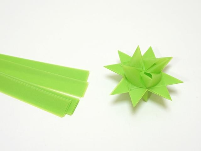 【1098】フレーベルの星用ペーパー/1.5cm×44cm /20枚入/スプリンググリーン