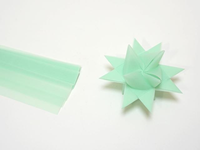【1097】フレーベルの星用ペーパー/1.5cm×44cm /20枚入/ライトグリーン