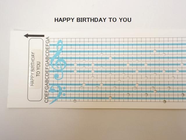 【1114】カード式オルゴール用/オルゴールカード/HAPPY BIRTHDAY TO YOU/ハッピーバースディトゥーユー