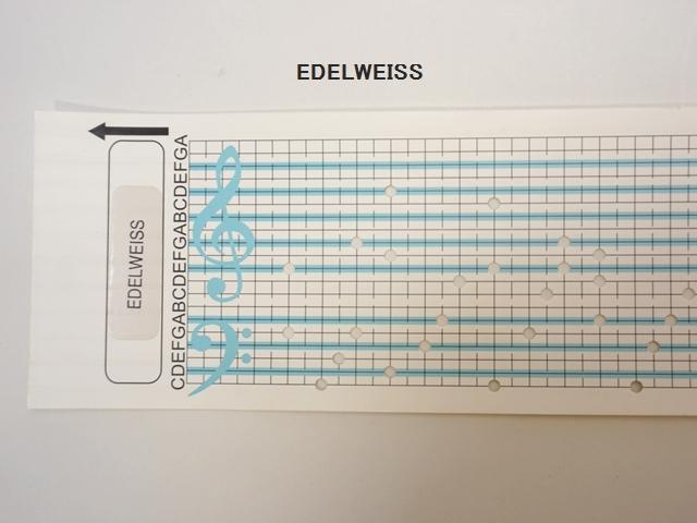 【1112】カード式オルゴール用/オルゴールカード/EDELWISS/エーデルワイス