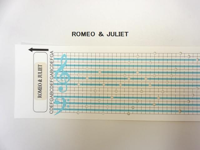 【1116】カード式オルゴール用/オルゴールカード/ROMEO&JULIET/ロミオとジュリエット