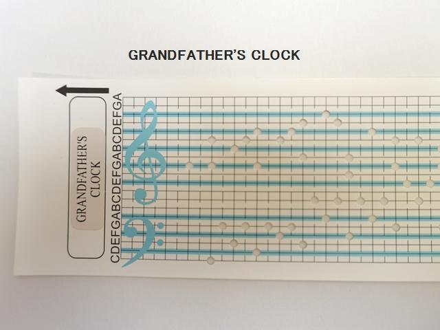 【1115】カード式オルゴール用/オルゴールカード/GRANDFATHER'S CLOCK/大きな古時計