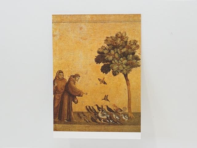【1132】ジョット/Giotto/小鳥への説教/ポストカード