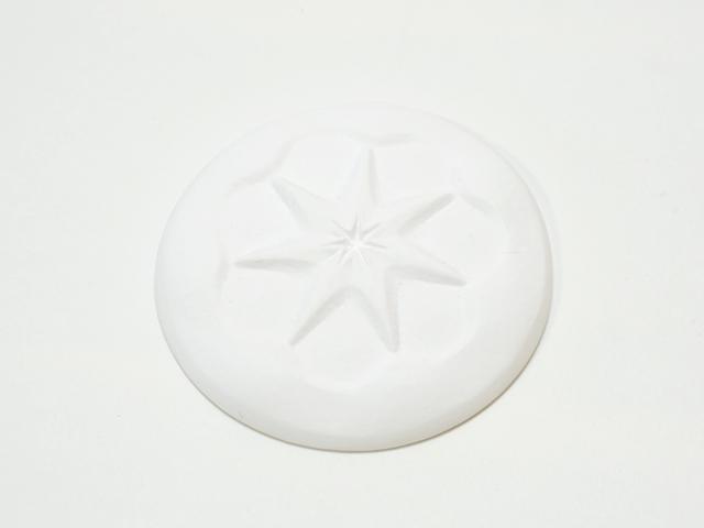 【1058-3】シュタイナー学園創立30周年記念品/土星のレリーフ石膏製メダル