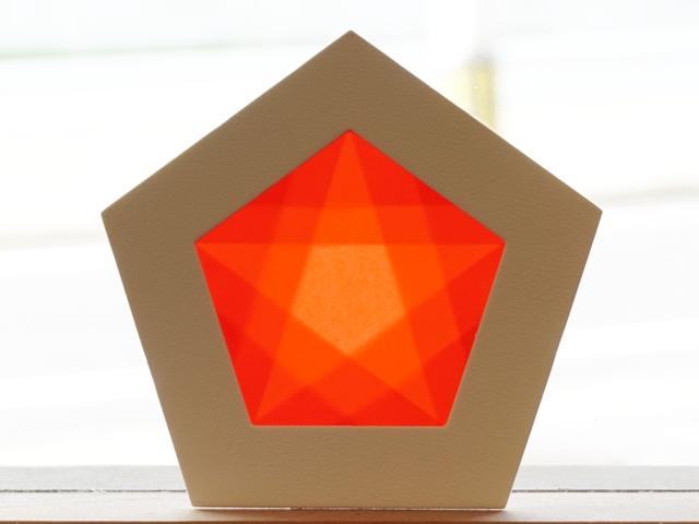【1145-1】五角形枠の手づくりキット/数量限定/レッド