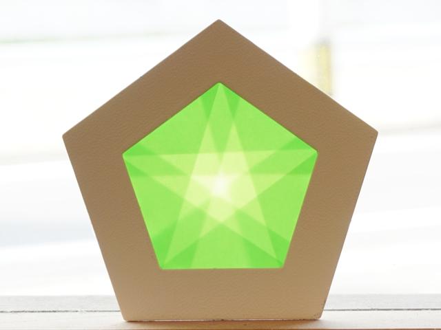 【1145-4】五角形枠の手づくりキット/数量限定/グリーン
