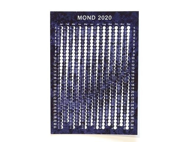 月のカレンダー2020