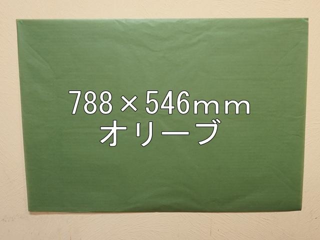 【1120-17】【特大Bサイズ】ローズウィンドウペーパー/単色5枚入/788×546mm/オリーブ