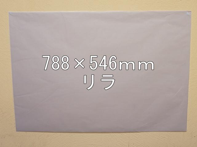 【1120-19】【特大Bサイズ】ローズウィンドウペーパー/単色5枚入/788×546mm/リラ