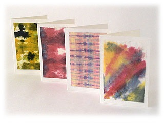 【202】和紙染めセット/染料6色+薄和紙100枚+台紙10枚