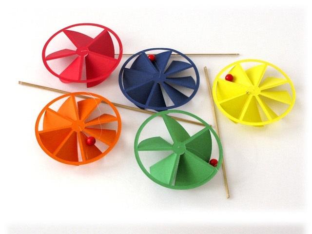 【368】くるくるモビールキット(風車の直径10m・紙製)
