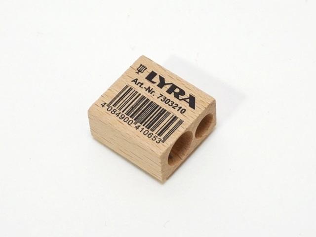 【173-W】LYRA リラ/ブナ材ツインホールシャープナー/鉛筆削り