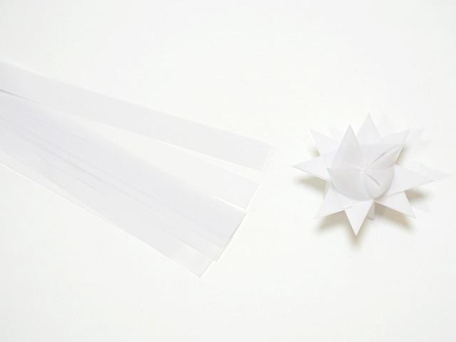 【939-2】フレーベルの星用ペーパー/1.5cm×44cm /20枚入/ホワイト