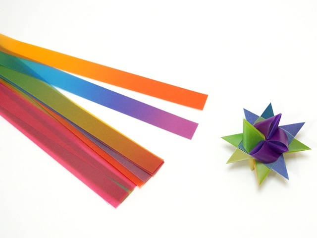 【939-1】フレーベルの星用ペーパー/1.5cm×50cm /20枚入/レインボー