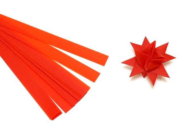 【956-E】フレーベルの星用ペーパー/1.5cm×44cm /20枚入/ビビッド/レッド