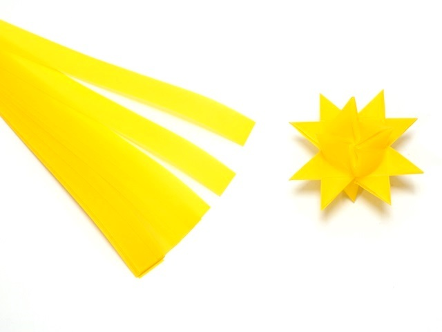 【956-F】フレーベルの星用ペーパー/1.5cm×44cm /20枚入/ビビッド/イエロー