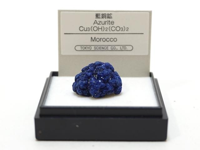 【1067】ミニ鉱物標本/青銅鉱/モロッコ/ケースサイズ:4センチ角