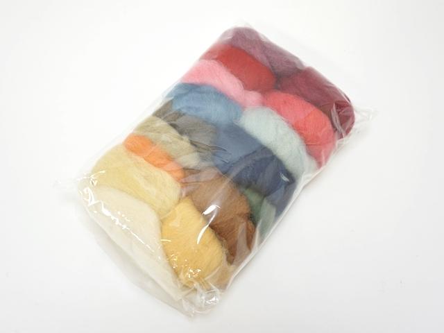 【178】草木染色羊毛16色セット