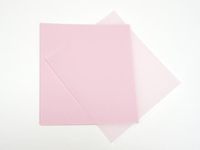 【957-E】パステルカラー/トレーシングペーパー/ピーチ/14cm×13cm/20枚