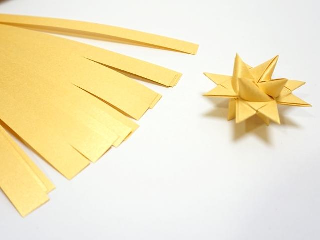 【1075】フレーベルの星用ペーパー/1cm×50cm /20枚入/ゴールド【在庫限り・数量限定】