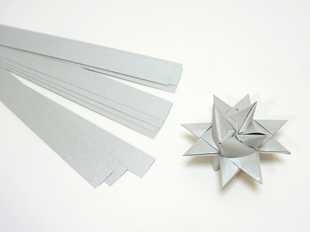 【1077】フレーベルの星用ペーパー/1.5cm×50cm /20枚入/シルバー【在庫限り・数量限定】