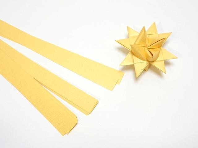 【1076】フレーベルの星用ペーパー/1.5cm×50cm /20枚入/ゴールド【在庫限り・数量限定】