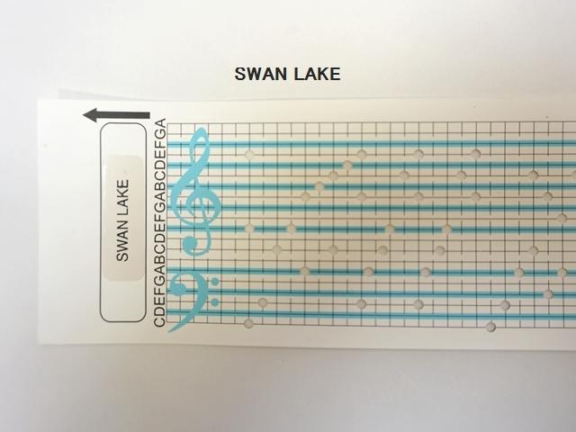 【1113】カード式オルゴール用/オルゴールカード/SWAN LAKE/白鳥の湖
