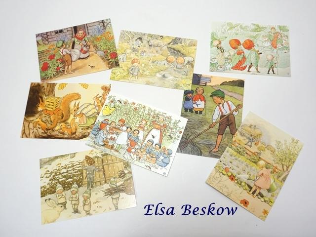 【019】エルサ・ベスコフ/Elsa Beskow/ポストカード8枚セット