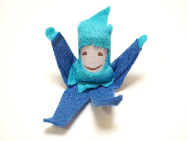 【217-C】WALTER KRAUL ワルタークラウル/コロコロ人形/帽子・ひげあり