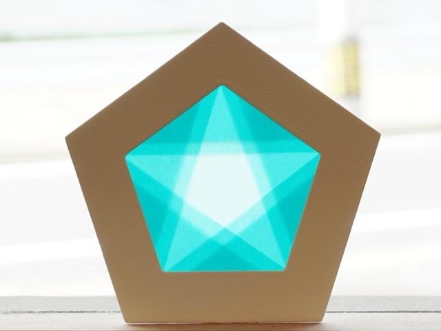 【1145-2】五角形枠の手づくりキット/数量限定/ブルー