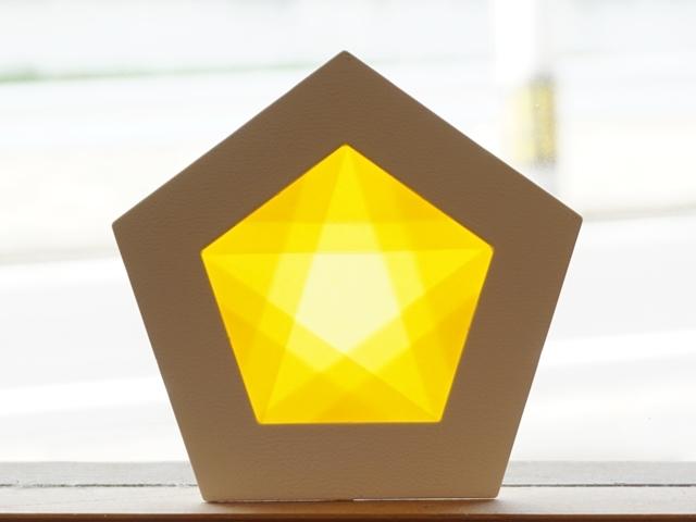 【1145-3】五角形枠の手づくりキット/数量限定/イエロー