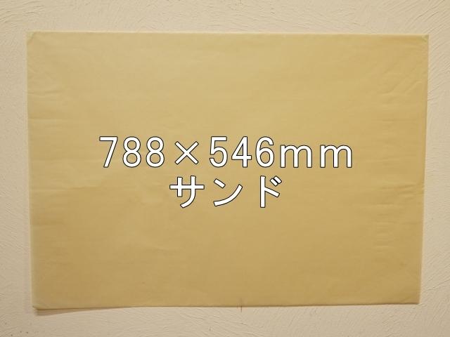 【1120-26】【特大Bサイズ】ローズウィンドウペーパー/単色5枚入/788×546mm/サンド