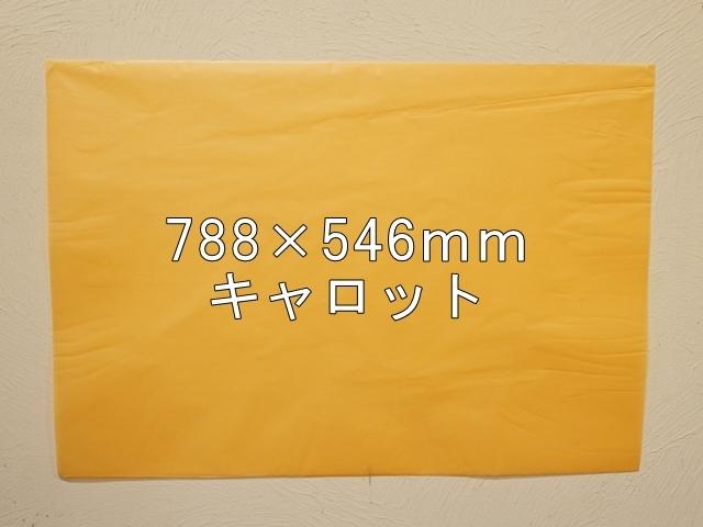 【1120-29】【特大Bサイズ】ローズウィンドウペーパー/単色5枚入/788×546mm/キャロット